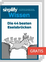 Die 44 besten Eselsbrücken